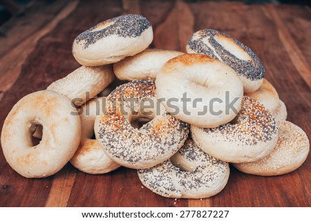 Selection of bagels - stock photo