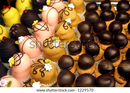 Selection of Chocolates - stock photo