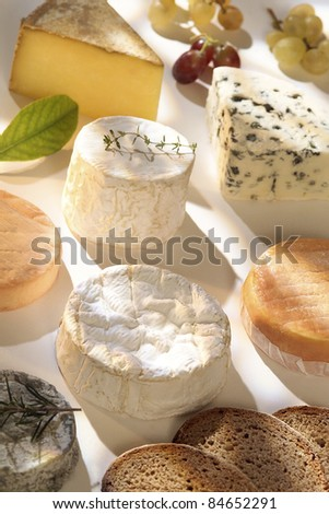Selection of French cheeses - stock photo