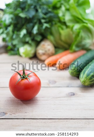 Selection of fresh vegetables - stock photo