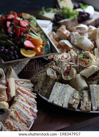 Selection of mixed sandwiches - stock photo