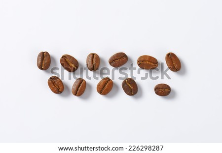 selection of roasted coffee beans - stock photo