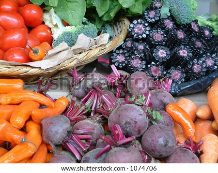 Selection of  vegetables - stock photo