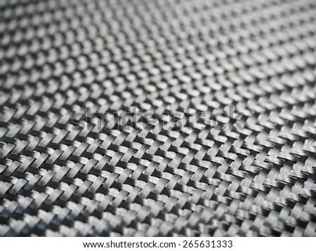selective focus on nano carbon composite fiber - stock photo