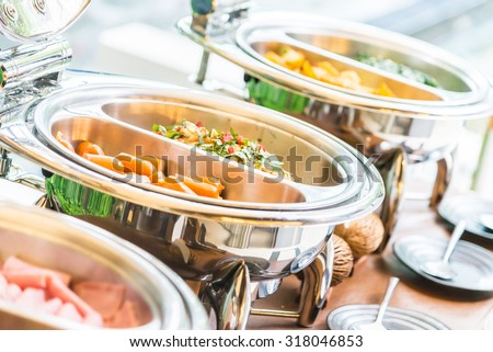 Selective focus point on Catering buffet food in restaurant - stock photo