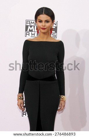 Selena Gomez at the 2014 American Music Awards held at the Nokia Theatre L.A. Live in Los Angeles on November 23, 2014 in Los Angeles, California. - stock photo