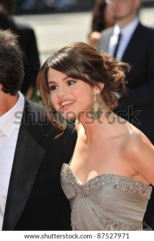 Selena Gomez at the 2009 Creative Arts Emmy Awards at the Nokia Theatre L.A. Live in Downtown Los Angeles. September 12, 2009  Los Angeles, CA Picture: Paul Smith / Featureflash - stock photo