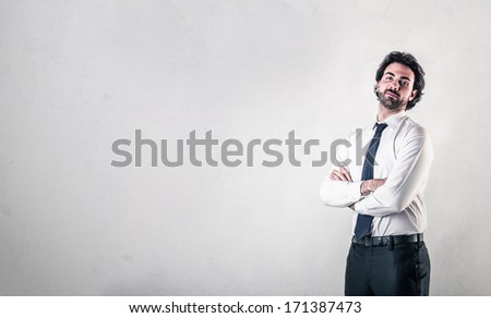 Self-confident businessman - stock photo
