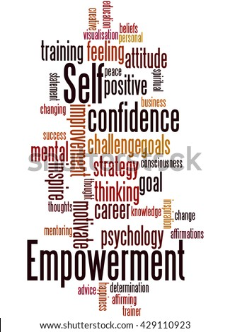 Self Empowerment, word cloud concept on white background. - stock photo