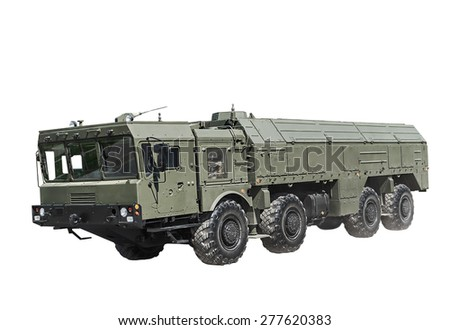 Self-propelled launcher operational-tactical missile complex of Russian-made. Russian military equipment - stock photo