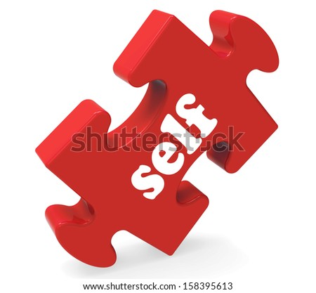 Self Puzzle Showing Believe Me Yourself Or Myself - stock photo