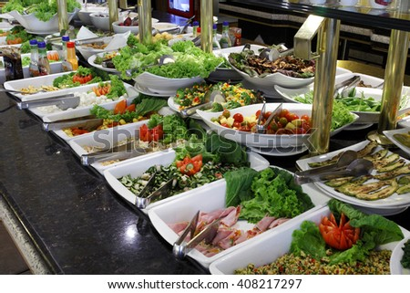 Self service food - stock photo