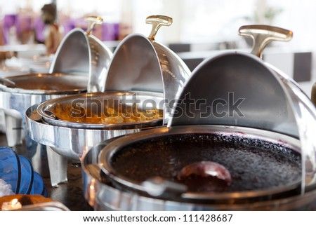Self-service restaurant - stock photo