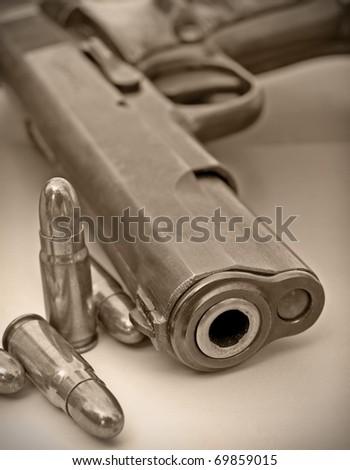 Semi Auto handgun - stock photo