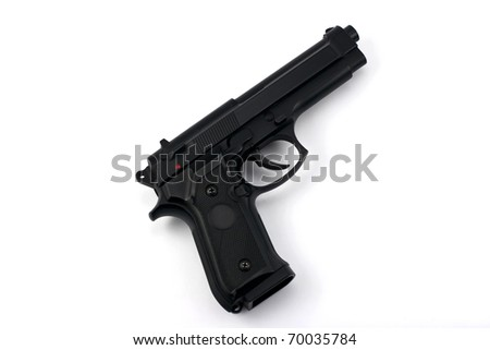 semi automatic handgun - stock photo