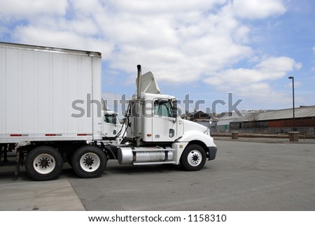 Semi 4, side view - stock photo