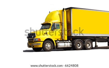 Semi truck - stock photo