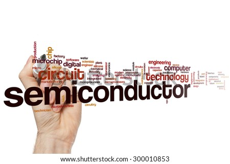 Semiconductor word cloud concept - stock photo