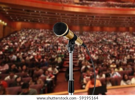 Seminar Hall - stock photo