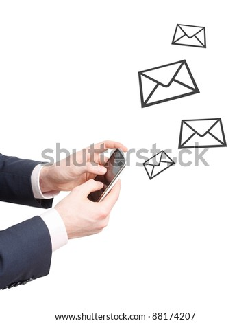 Sending messages - stock photo