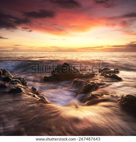Senggigi Sunset, Lombok - stock photo