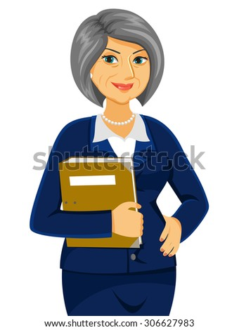senior business women looking confident  - stock photo