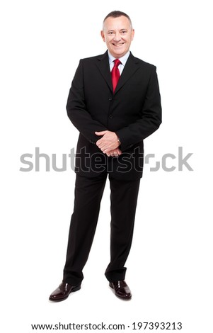 Senior businessman full length  - stock photo