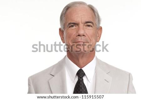 Senior businessman portrait - stock photo