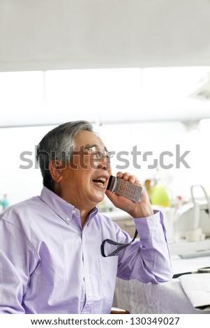Senior Call - stock photo