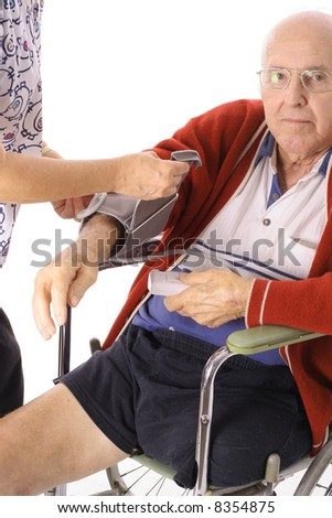 senior citizen checkup - stock photo