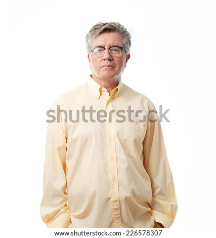 senior cool man boring - stock photo