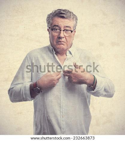 senior cool man myself concept - stock photo