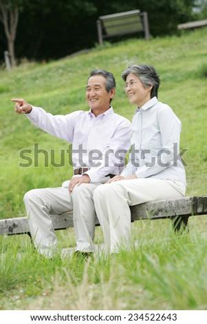 Senior couple - stock photo