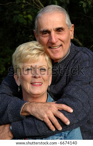senior couple - stock photo