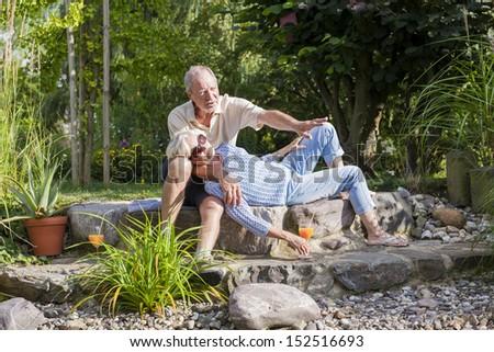 senior couple enjoying retirement - stock photo