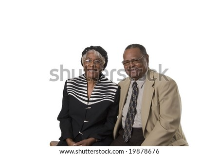 senior couple showing togetherness and happiness - stock photo