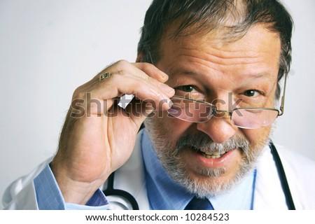 Senior doctor - stock photo