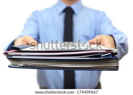 senior manager is Giving a lot of work - stock photo