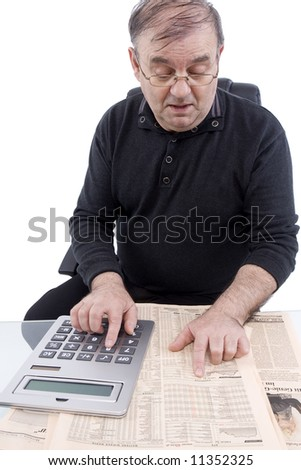 Senior reckons - stock photo