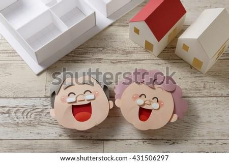 Senior senior citizen housing - stock photo