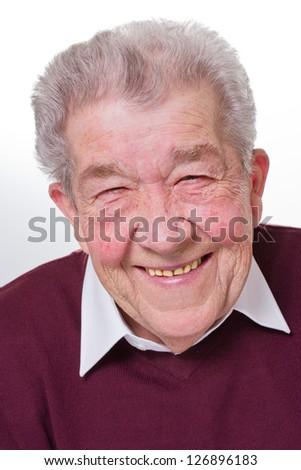Senior smiles - stock photo