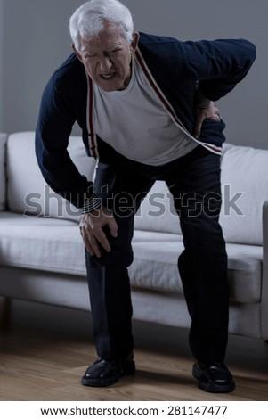 Senior suffer from rheumatism - stock photo