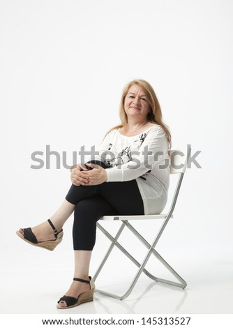 senior woman portait - stock photo