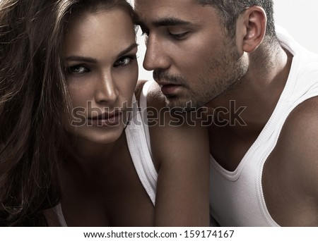 Sensual couple - stock photo