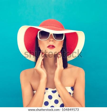 sensual summer girl - stock photo