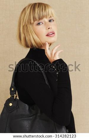 Sensual young businesswoman, portrait - stock photo