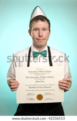 Sentenced to Minimum Wage - stock photo
