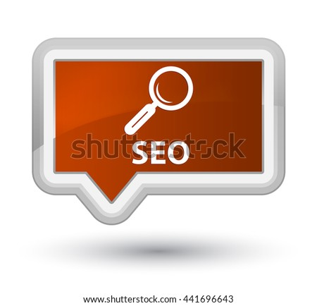 Seo brown banner button - stock photo