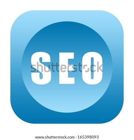 Seo icon (search engine optimization) - stock photo