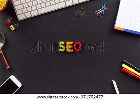 SEO (SEARCH ENGINE OPTIMIZATION) - stock photo
